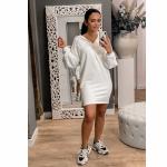 NA-KD Hoodie Dress off white