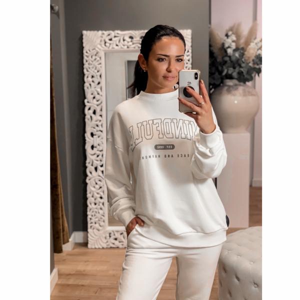 NA-KD Mindfull Printed Sweater