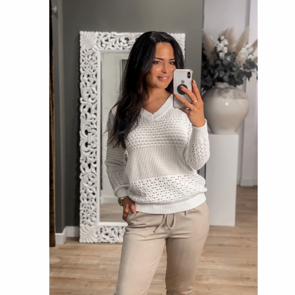 Rebelz Sweater Pleini offwhite