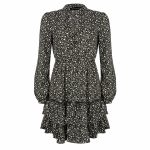 Lofty Manner Dress Fayah black green