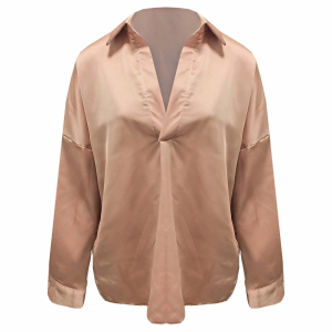 Satin Blouse one size camel/old pink