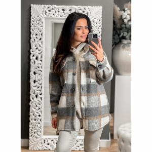 Oversized Checkered Coat One size