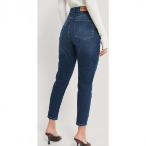 NA-KD Comfort Mom Jeans dark blue